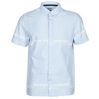 Textiel Heren Overhemden korte mouwen Kaporal STEVE Blauw