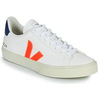 Schoenen Lage sneakers Veja CAMPO Wit / Oranje / Blauw