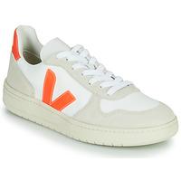 Schoenen Lage sneakers Veja V-10 Wit / Oranje