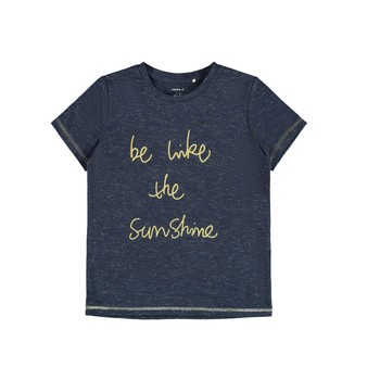 Textiel Meisjes T-shirts korte mouwen Name it NKFDEVIRA Marine