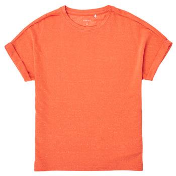 Textiel Meisjes T-shirts korte mouwen Name it NKFKYRRA Koraal