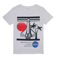 Textiel Jongens T-shirts korte mouwen Name it NASA Wit