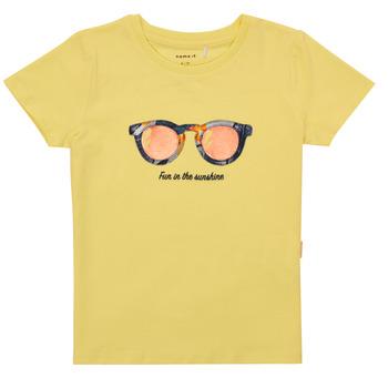Textiel Meisjes T-shirts korte mouwen Name it NMFFISUMMER Geel
