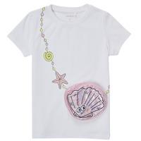 Textiel Meisjes T-shirts korte mouwen Name it NMFFEFA Wit