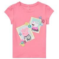 Textiel Meisjes T-shirts korte mouwen Name it PEPPAPIG Roze