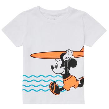 Textiel Jongens T-shirts korte mouwen Name it NMMMICKEY Wit