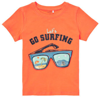 Textiel Jongens T-shirts korte mouwen Name it NMMFANO Oranje