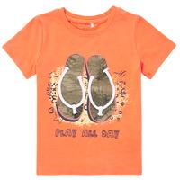 Textiel Jongens T-shirts korte mouwen Name it NMMFASHO Oranje