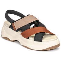 Schoenen Dames Sandalen / Open schoenen Vagabond Shoemakers ESSY Wit / Roest / Zwart