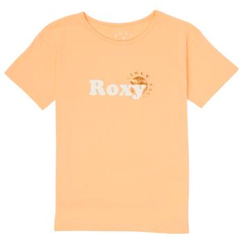 Textiel Meisjes T-shirts korte mouwen Roxy DAY AND NIGHT FOIL Roze
