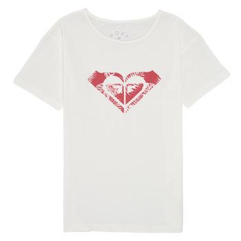 Textiel Meisjes T-shirts korte mouwen Roxy DAY AND NIGHT PRINT Wit
