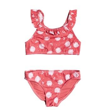 Textiel Meisjes Bikini Roxy TEENY EVERGLOW CROP TOP SET Roze