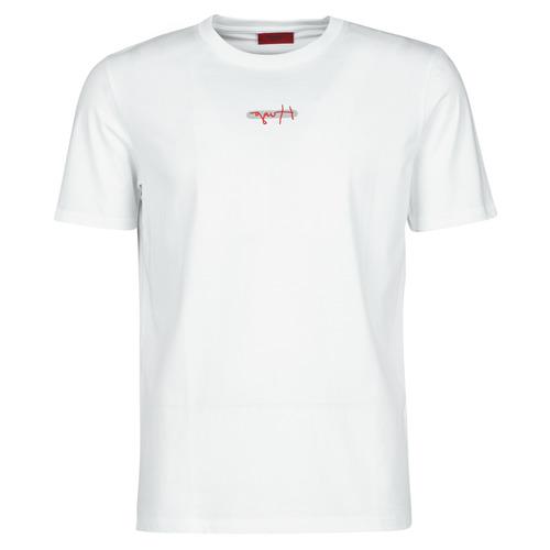 Textiel Heren T-shirts korte mouwen HUGO DURNED Wit