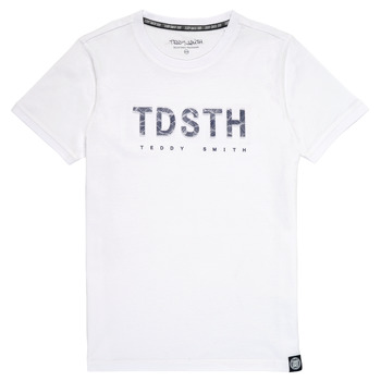 Textiel Jongens T-shirts korte mouwen Teddy Smith T-MAX Wit