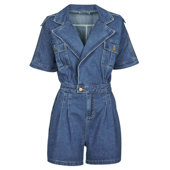 Textiel Dames Jumpsuites / Tuinbroeken Molly Bracken EL1261P21 Blauw