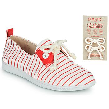 Schoenen Kinderen Lage sneakers Armistice STONE ONE Wit / Rood