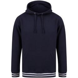 Textiel Sweaters / Sweatshirts Front Row FR841 Marine / Heide Grijs