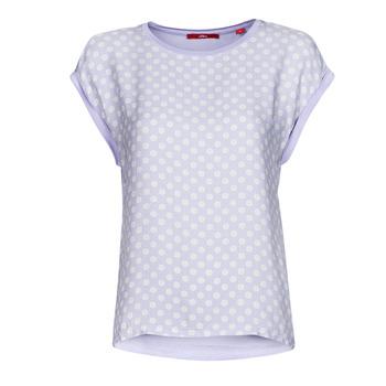 Textiel Dames T-shirts korte mouwen S.Oliver 14-1Q1-32-6972-48B2 Blauw