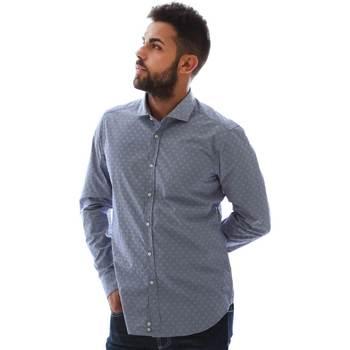 Textiel Heren Overhemden lange mouwen Gmf GMF3 3218 961153/01 Blauw
