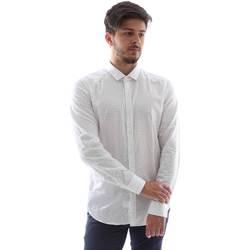 Textiel Heren Overhemden lange mouwen Gmf FS15 961138/1 Wit