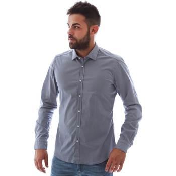 Textiel Heren Overhemden lange mouwen Gmf 961146/2 Blauw