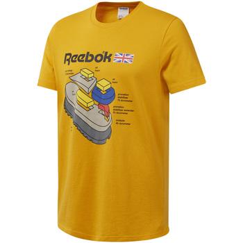 Textiel Heren T-shirts korte mouwen Reebok Sport DT8125 Geel