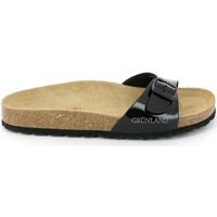 Schoenen Dames Leren slippers Grunland CB0029 Zwart
