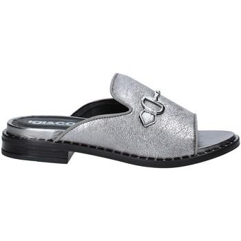 Schoenen Dames Leren slippers IgI&CO 3184033 Grijs