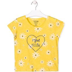 Textiel Meisjes T-shirts korte mouwen Losan 014-1013AL Geel