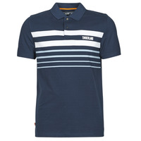 Textiel Heren Polo's korte mouwen Timberland SS MILLERS RIVER PLACEMENT STRIPE POLO REGULAR Marine / Wit