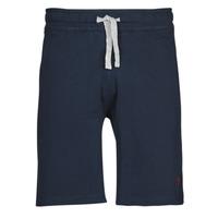 Textiel Heren Korte broeken / Bermuda's U.S Polo Assn. TRICOLOR SHORT FLEECE Blauw