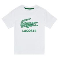 Textiel Jongens T-shirts korte mouwen Lacoste TJ1965-001 Wit
