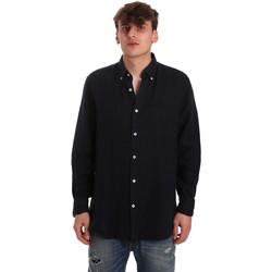 Textiel Heren Overhemden lange mouwen Navigare NV91108 Blauw