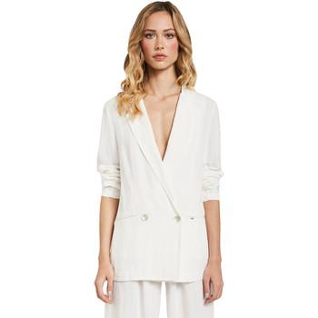 Textiel Dames Jasjes / Blazers Gaudi 011FD35012 Wit