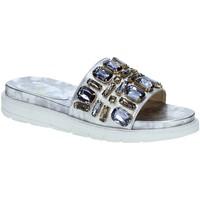 Schoenen Dames slippers Byblos Blu 672101 Grijs