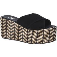 Schoenen Dames Leren slippers Exé Shoes G41007057004 Zwart