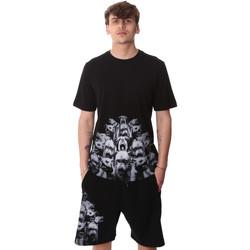 Textiel Heren T-shirts korte mouwen Sprayground 20SP012 Zwart