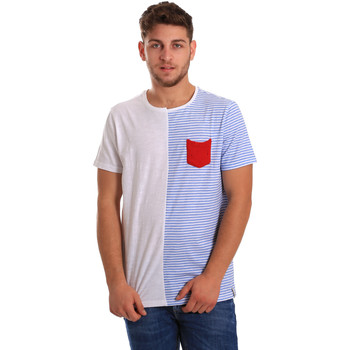 Textiel Heren T-shirts korte mouwen Gaudi 811FU64046 Wit