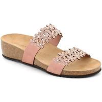 Schoenen Dames Leren slippers Grunland CB2478 Roze