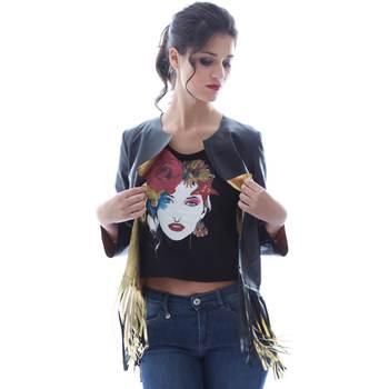 Textiel Dames Jasjes / Blazers Grace Shoes DF131 Zwart