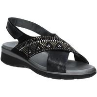 Schoenen Dames Sandalen / Open schoenen Soffice Sogno E9490 Zwart