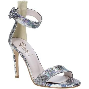 Schoenen Dames Sandalen / Open schoenen Grace Shoes 018SP022 Zilver