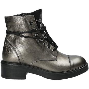Schoenen Dames Enkellaarzen Mally 6019 Zilver