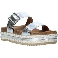 Schoenen Dames Leren slippers Gold&gold A20 GJ340 Zilver