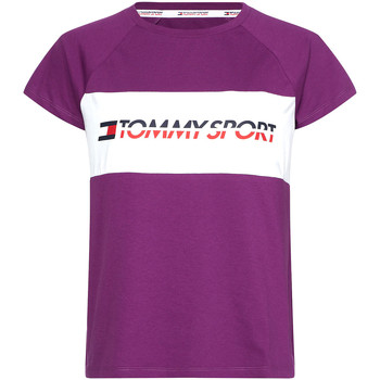 Textiel Dames T-shirts korte mouwen Tommy Hilfiger S10S100331 Paars