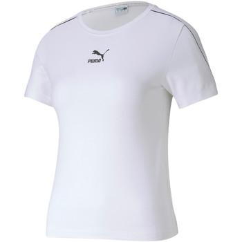 Textiel Dames T-shirts korte mouwen Puma 595375 Wit