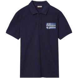 Textiel Heren Polo's korte mouwen Napapijri NP0A4E2K Blauw