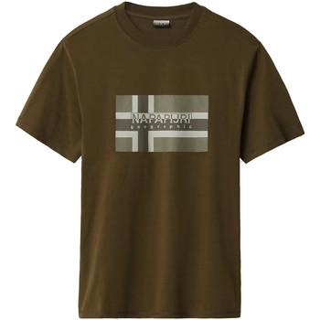 Textiel Heren T-shirts korte mouwen Napapijri NP0A4E38 Groen