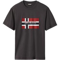 Textiel Heren T-shirts korte mouwen Napapijri NP0A4E38 Grijs