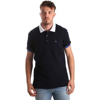 Textiel Heren Polo's korte mouwen NeroGiardini P972240U Blauw